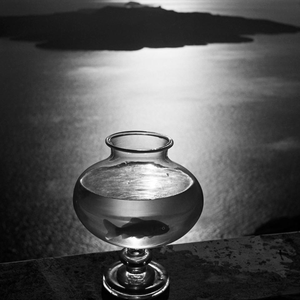 Herbert List. Goldfischglas. Santorin. Griechenland. 1937