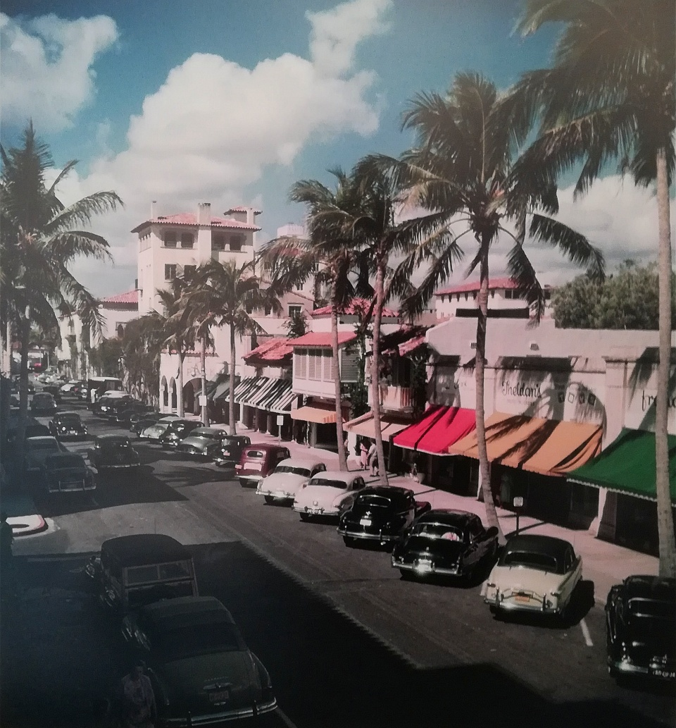 Slim Aarons. Palm Beach Street, Florida, 1953