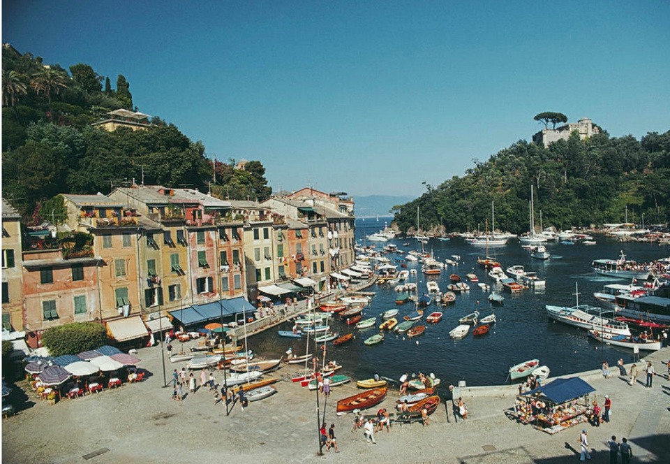 Slim Aarons. The harbour in the Ligurian town of Portofino, 1977