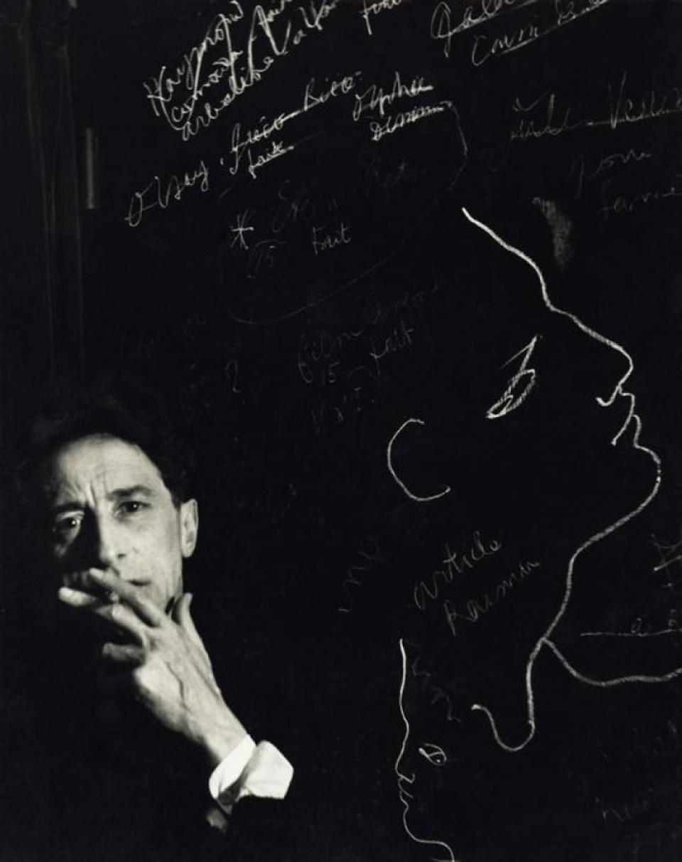Herbert List. Jean Cocteau with cigarette, Paris, 1944