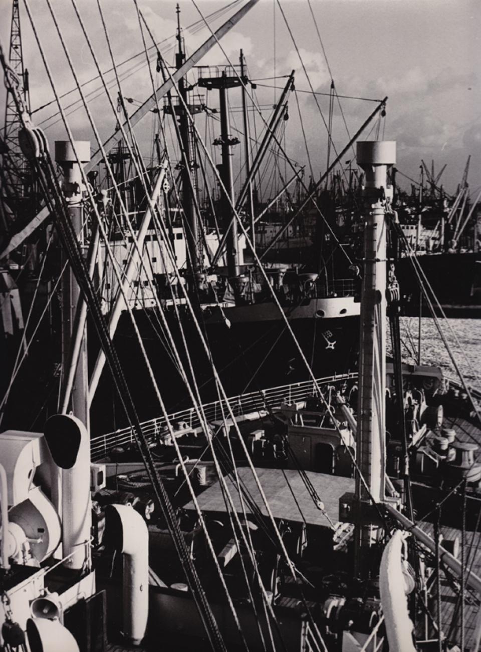 Franz Hubmann. Mastenwald. Hafen Hamburg. 1955/56.