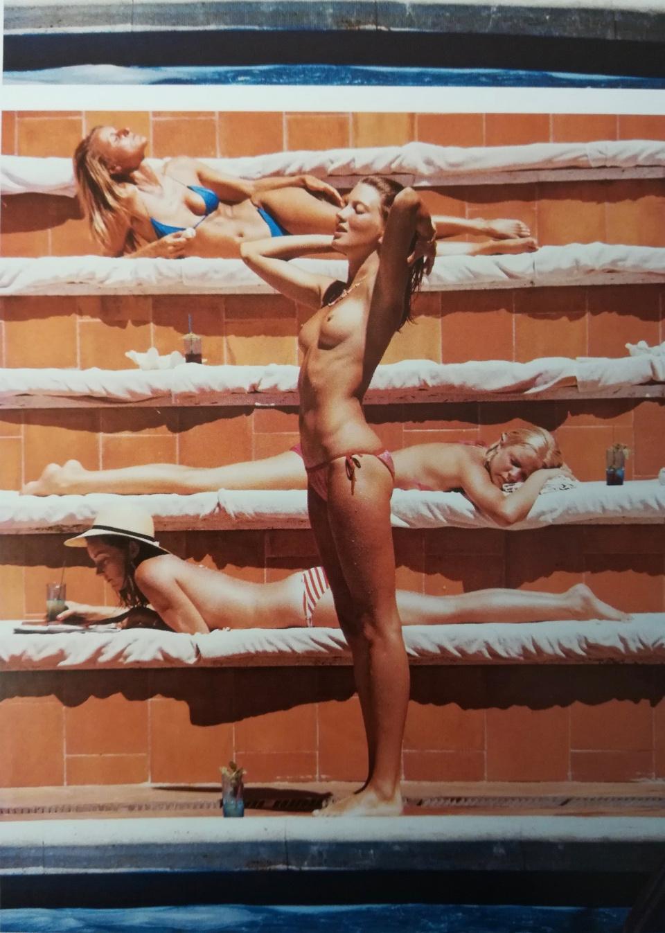 Slim Aarons, Sunbathers, Capri, 1980