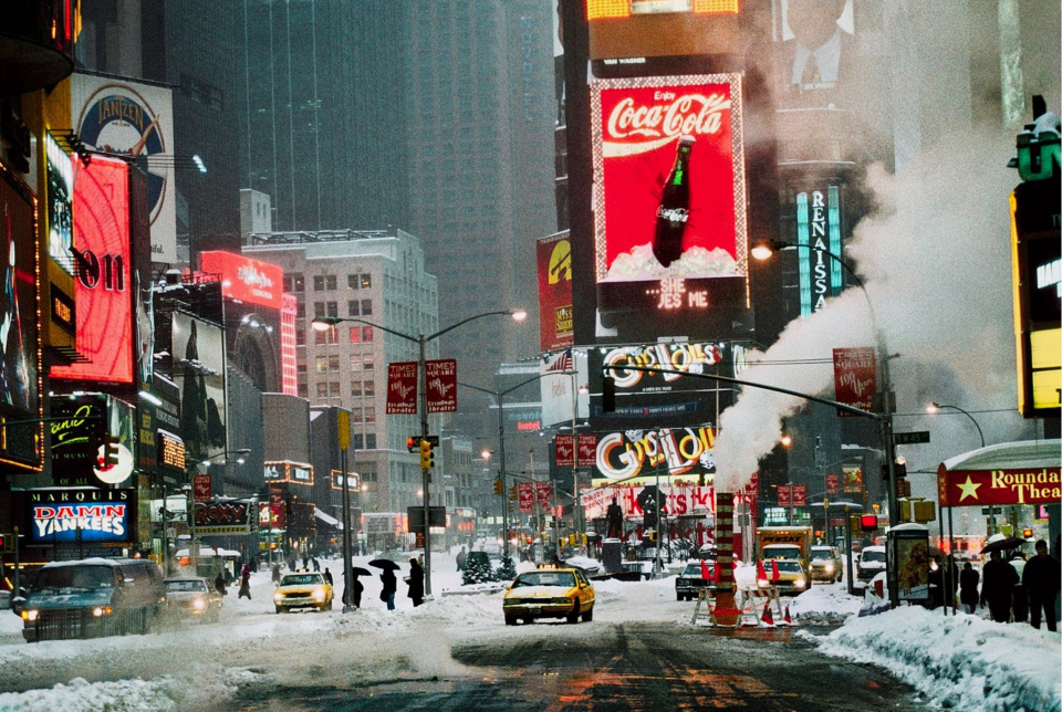 Steve McCurry. 'Times Square in Winter', New York, 1994. Fuji Flex Crystal Archive Print