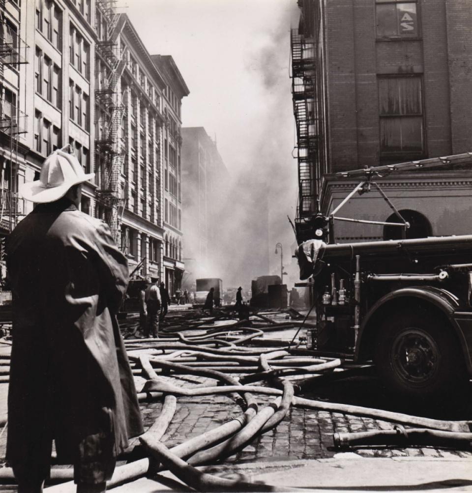 Fred Stein, Firemen, NY, 1945