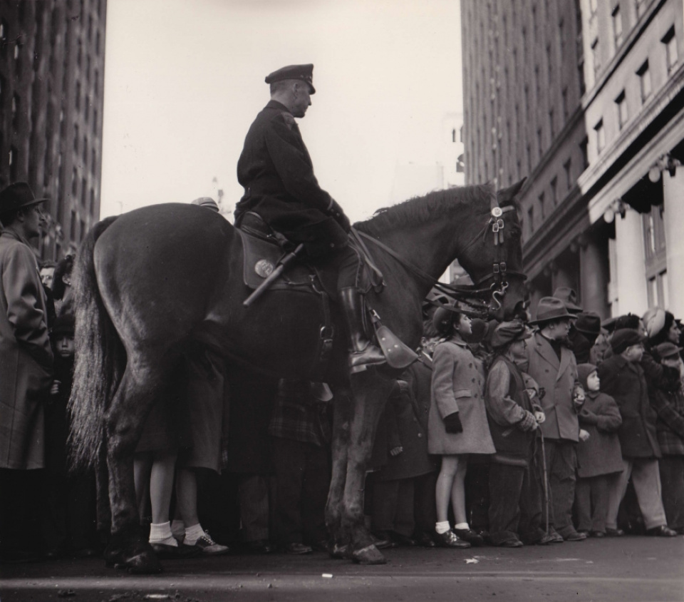 Fred Stein, Mounted Cop, NY, 1946