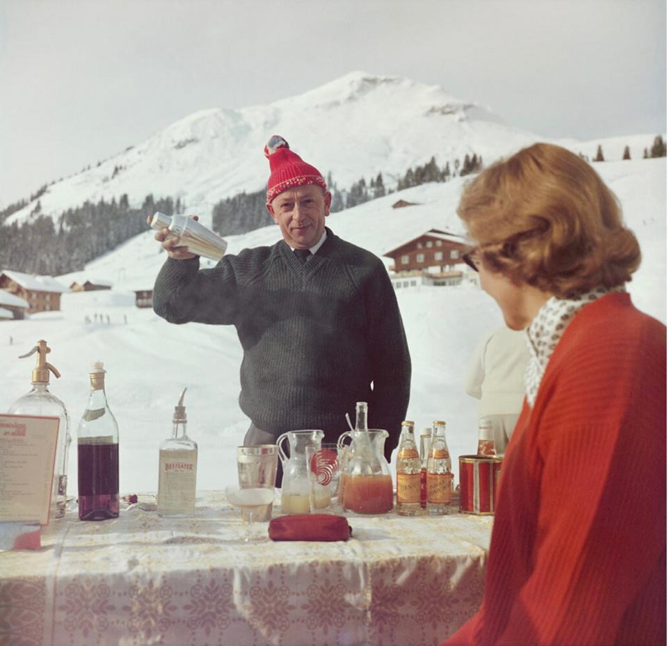 Slim Aarons. 'Lech Ice Bar', Lech, Austria, 1960